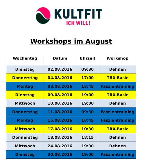 Workshops August 16